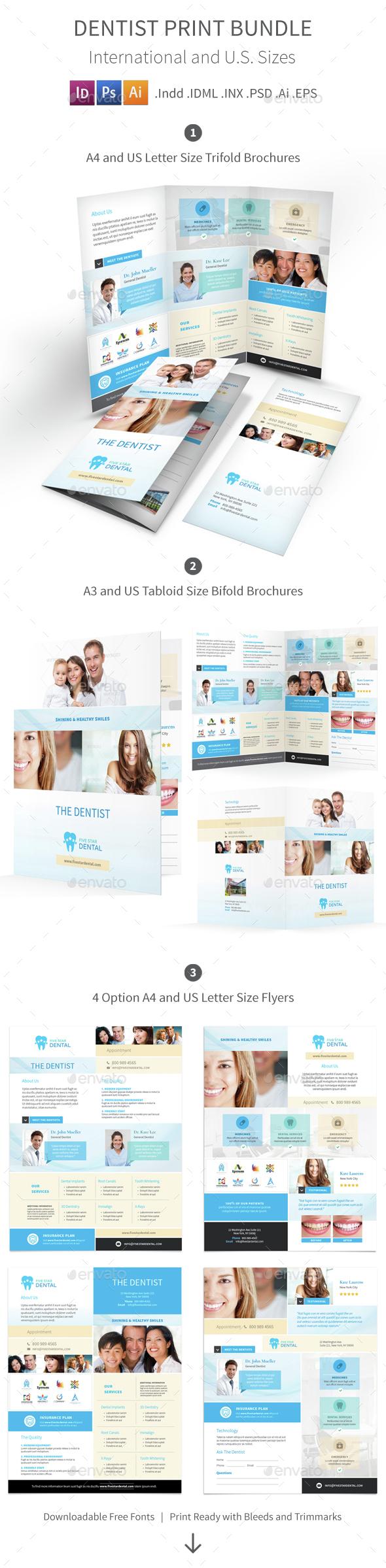Dentist Print Bundle 3 - Informational Brochures