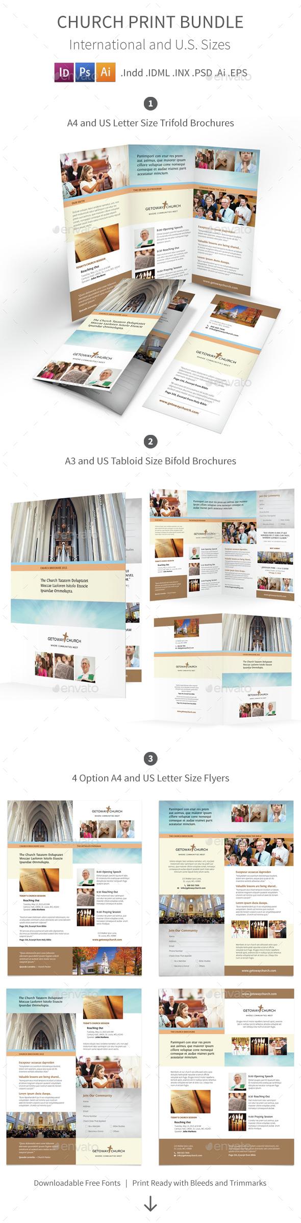 Church Print Bundle 2 - Informational Brochures