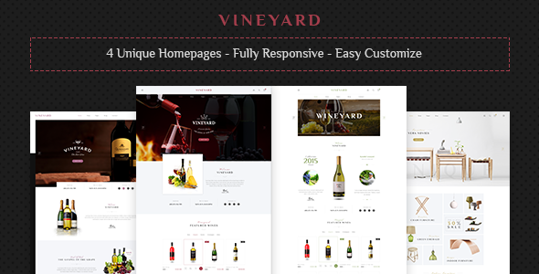 Vineyard – Wine Store and Blog Responsive WordPress Theme