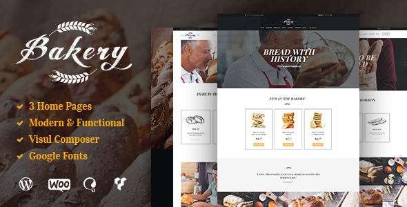 Bakery, Cafe & Pastry Shop WordPress Theme - Food Retail