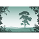 Landscape with Lone Tree - GraphicRiver Item for Sale