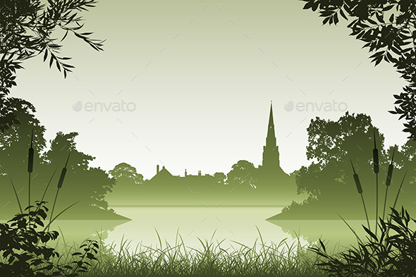 Landscape with Church - Landscapes Nature