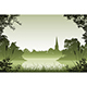 Landscape with Church - GraphicRiver Item for Sale