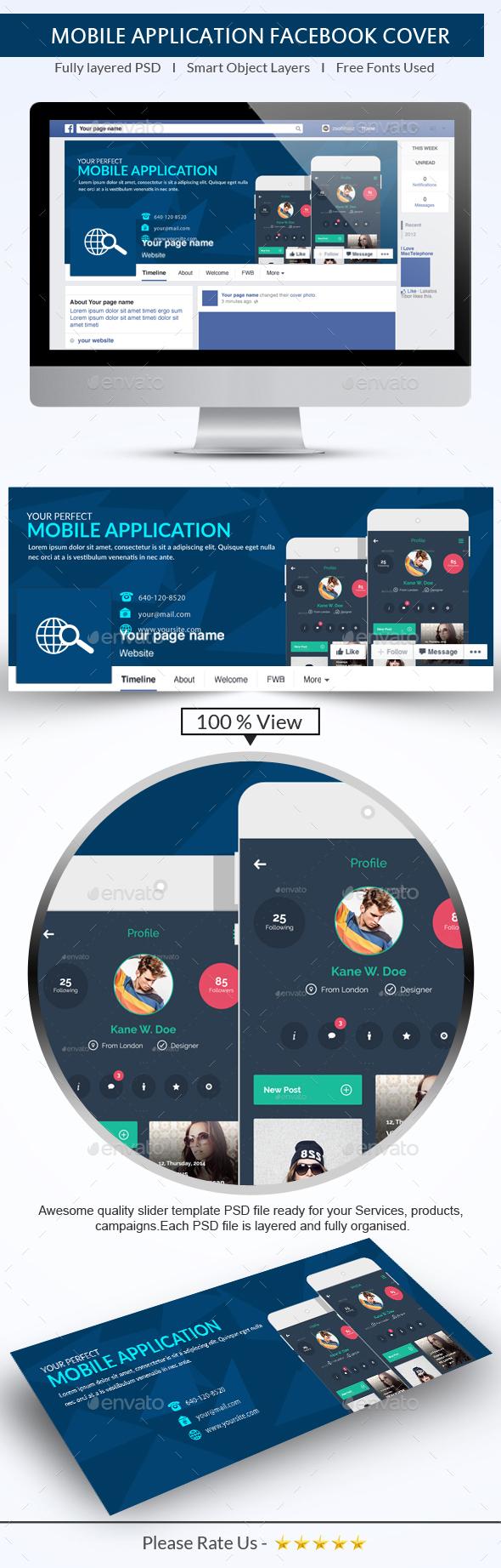 Mobile App FB Cover - Facebook Timeline Covers Social Media