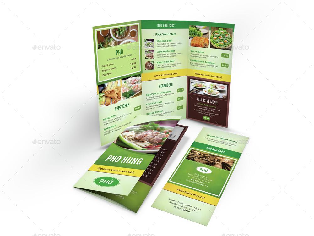 Vietnamese Pho Menu Print Bundle