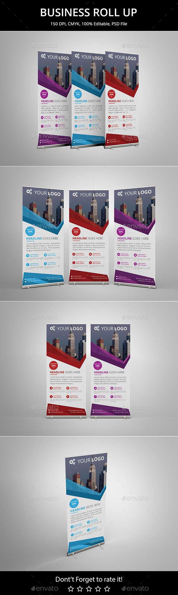 Business Roll up v6 - Signage Print Templates
