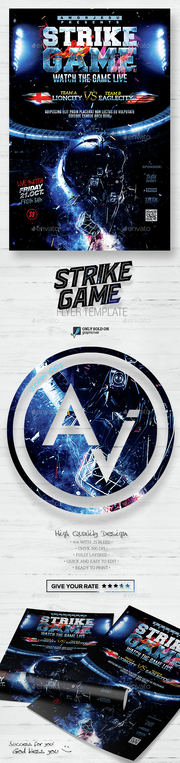Strike Game Flyer Template - Sports Events