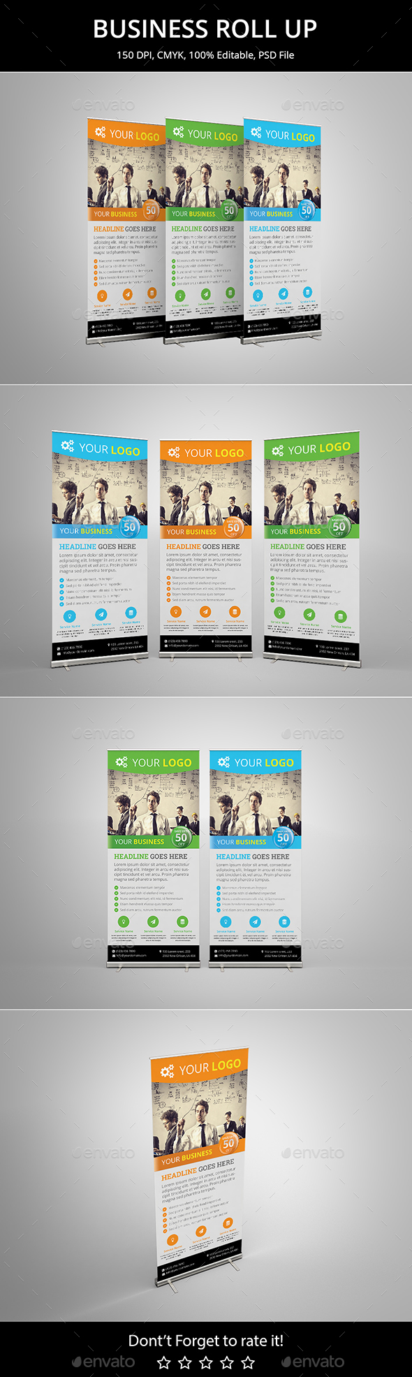 Business Roll up v7 - Signage Print Templates