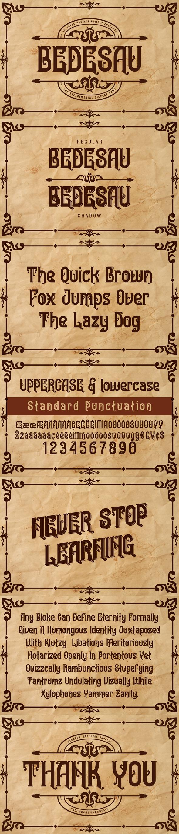 Bedesau Typeface - Decorative Fonts