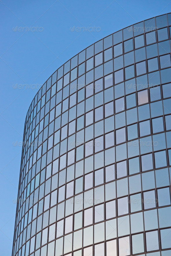 Office building in the early morning  - Stock Photo - Images