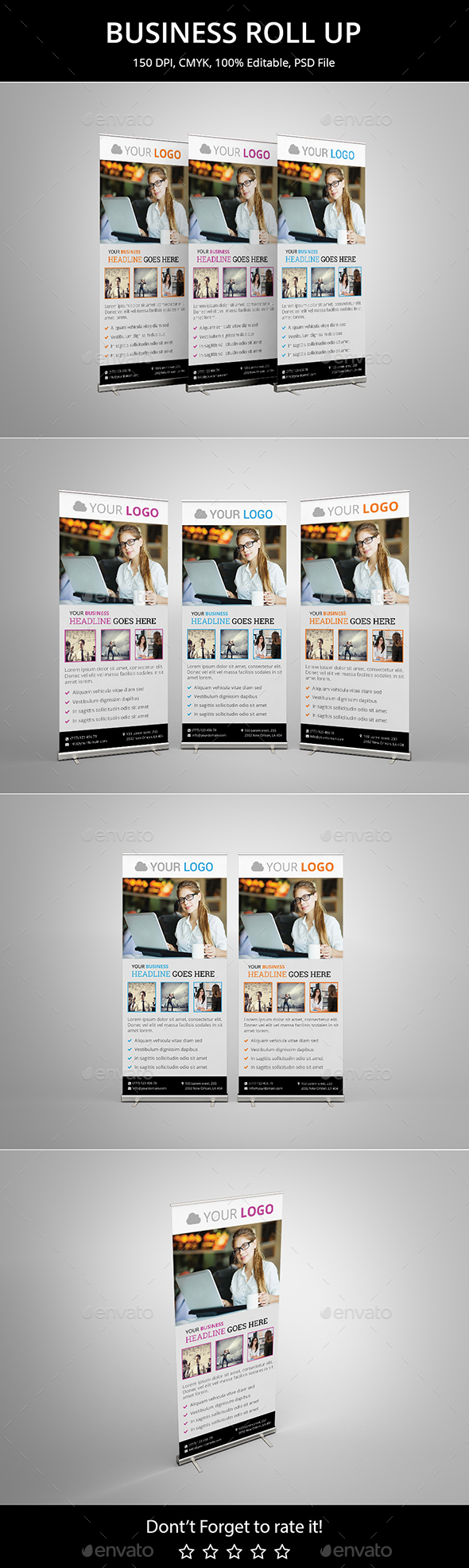 Business Roll up v8 - Signage Print Templates