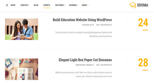 Awesome Education Themes for WordPress