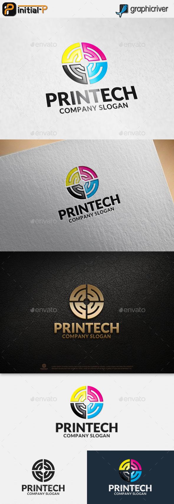 Printing Technology - Abstract Logo Templates
