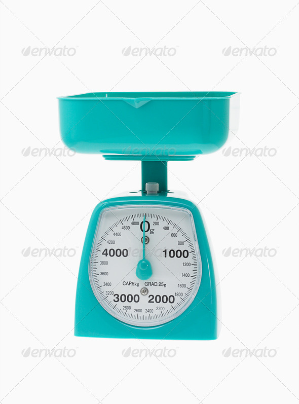 Plastic kitchen scale - Stock Photo - Images