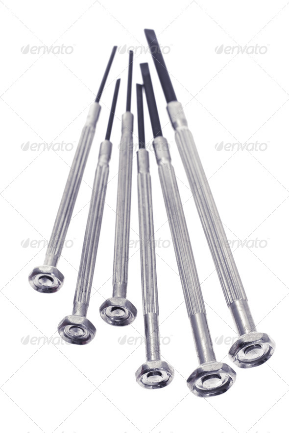 Precision screw drivers - Stock Photo - Images