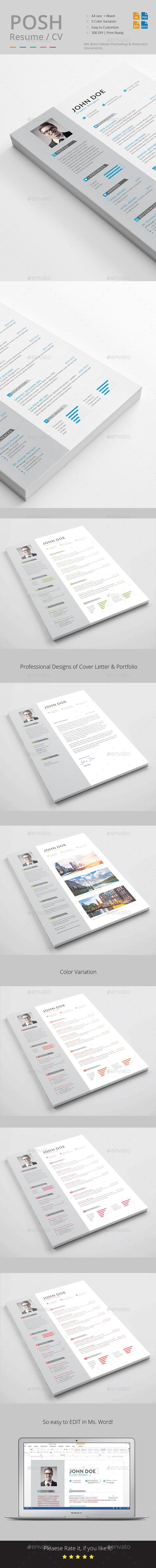 Resume / CV Template - Resumes Stationery