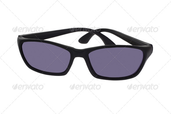 Black plastic toy spectacles - Stock Photo - Images