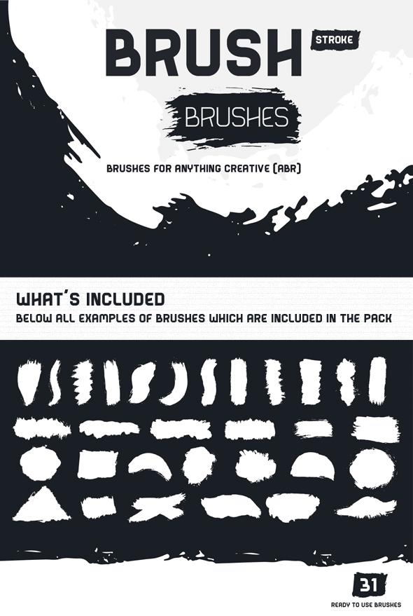 Brush Stroke Brushes - Brushes Photoshop