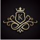King Royal (Editable Initial / Letter K ) - GraphicRiver Item for Sale