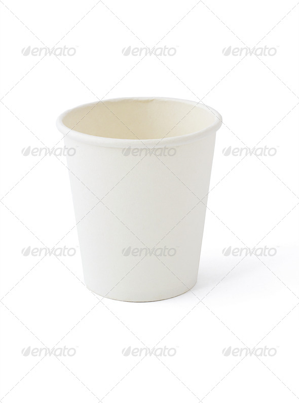 White paper cup - Stock Photo - Images