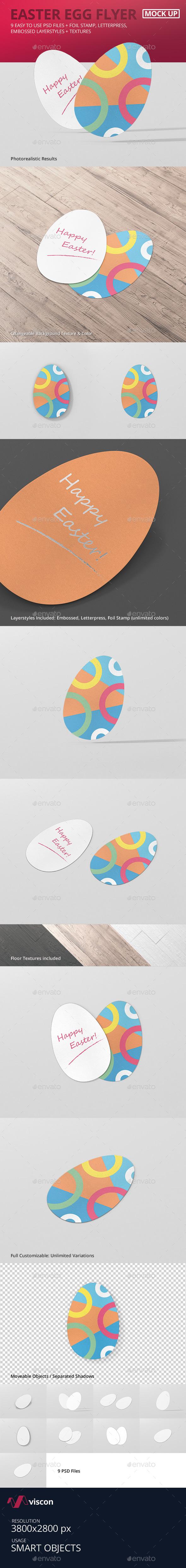 Easter Egg Flyer Mock-Up - Flyers Print