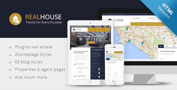 Realhouse - Real Estate HTML5 template - Corporate Site Templates