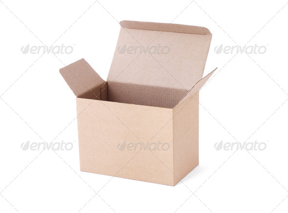 Empty carton box - Stock Photo - Images