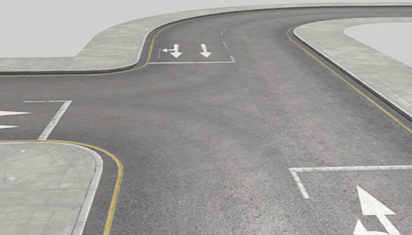 Roads Construction Kit - 3DOcean Item for Sale