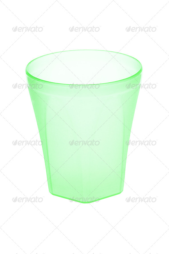 Green plastic cup - Stock Photo - Images