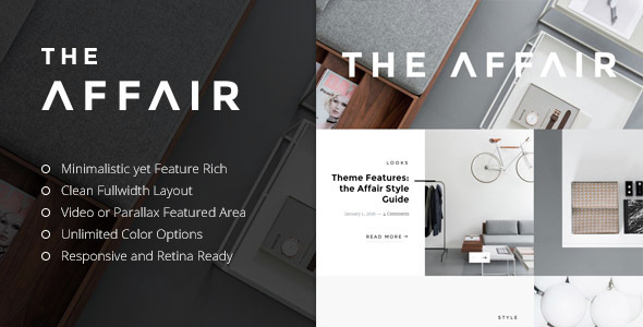 The Affair – Creative Theme for Personal Blogs and Magazines