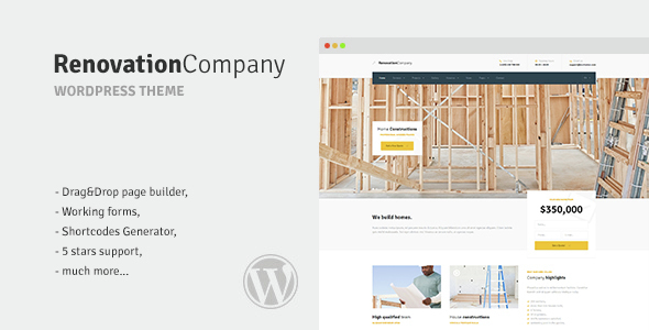 Renovation Company – Construction and Building WordPress Theme