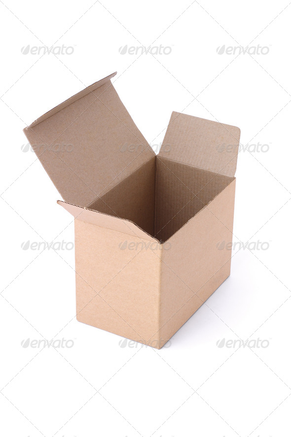 Empty paper box - Stock Photo - Images