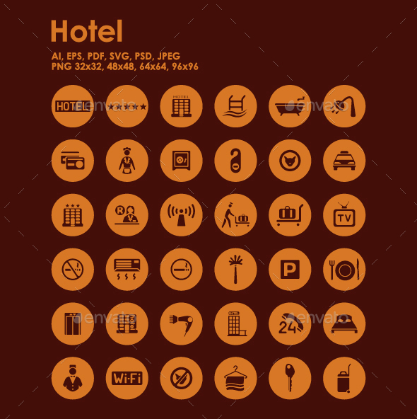 36 Hotel icons - Objects Icons