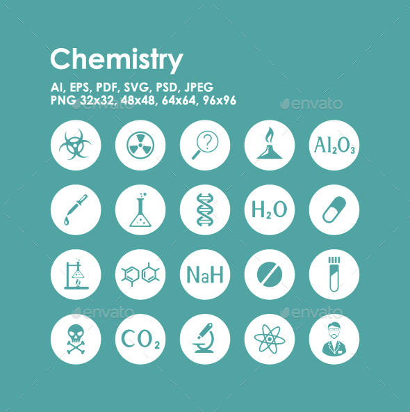 20 Chemistry icons - Technology Icons