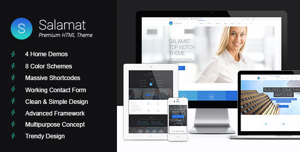 Salamat | Multi-purpose HTML Template - Corporate Site Templates