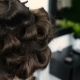 Hair Stylist Making Curls On Customer Hair Using Electric Curler - VideoHive Item for Sale