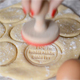 Woman Stamping Rolled out Dough - VideoHive Item for Sale
