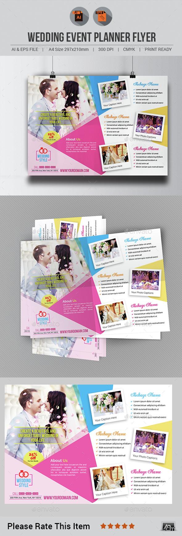 Wedding Event Planner Flyer - Corporate Flyers