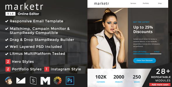 Marketr – Responsive Email + StampReady Builder