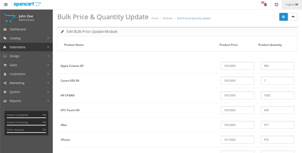 Bulk Price & Quantity Update - CodeCanyon Item for Sale