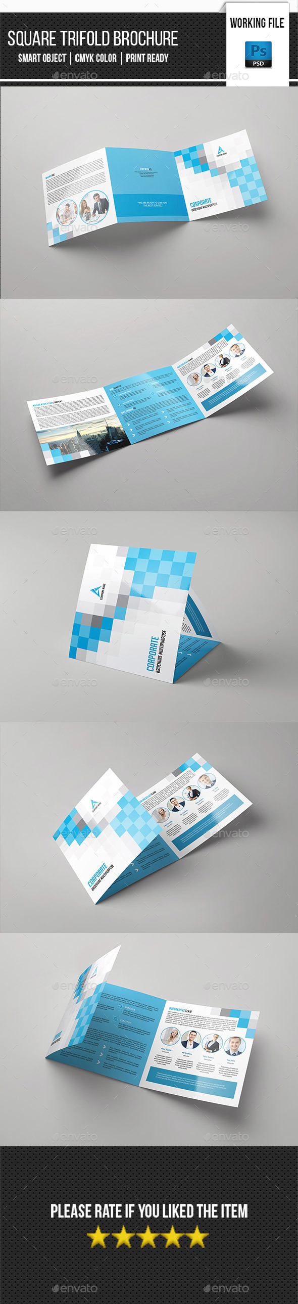 Corporate Square Trifold Brochure-V84 - Corporate Brochures