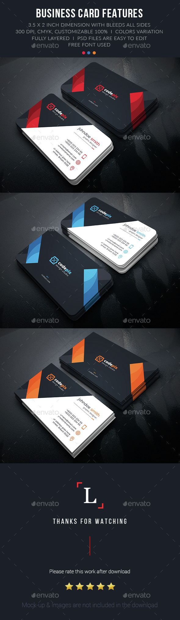 Design Creative Business Card - Business Cards Print Templates