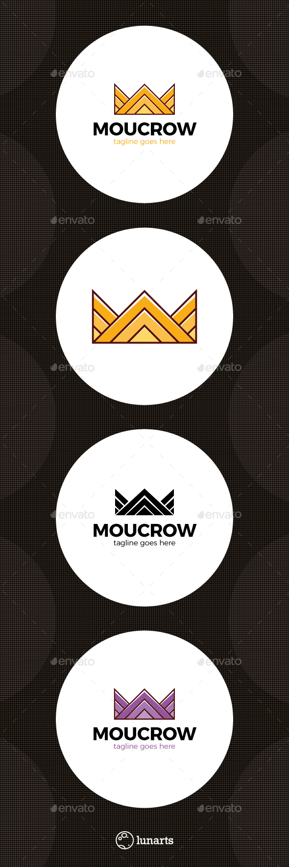 Mountain Crown Logo - Abstract Logo Templates