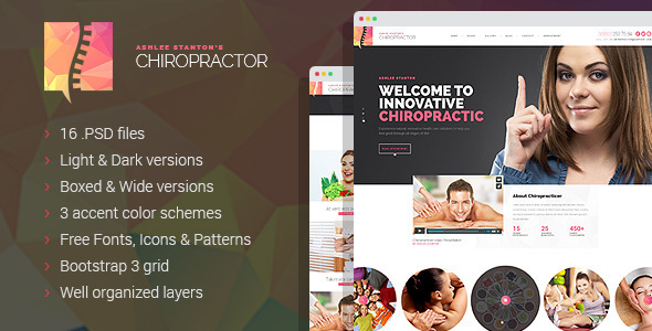 Chiropractor – Therapy and Rehabilitation PSD Template