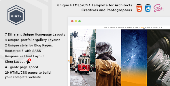 Minty – For Agency, Architect & Photographers, Creatives