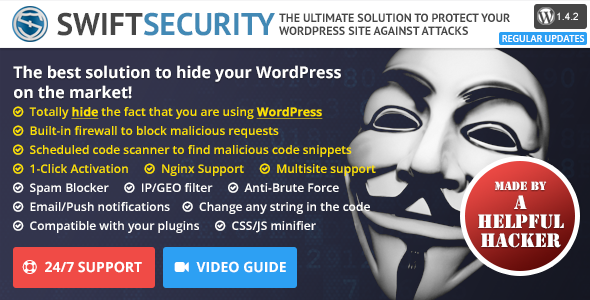 Swift Security Bundle - Hide WordPress, Firewall, Code Scanner - CodeCanyon Item for Sale