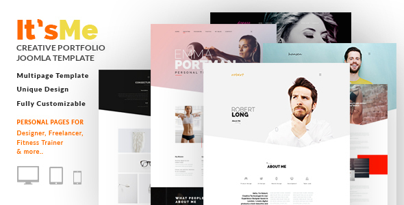 It's Me - Creative Personal Portfolio or Agency Responsive Joomla Template with 3 Styles