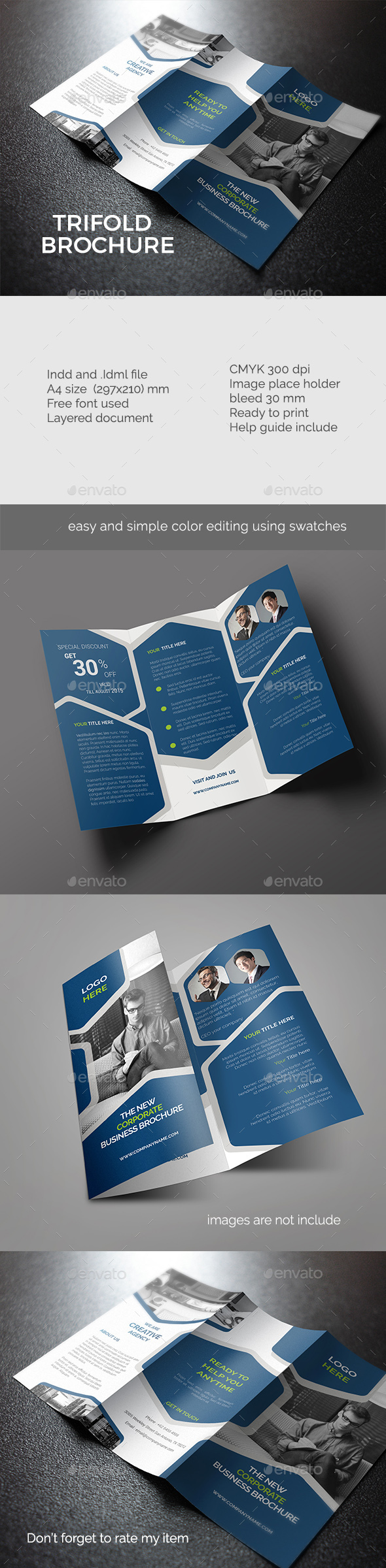 A4 Trifold Brochure  - Corporate Brochures