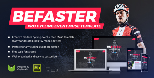 BeFaster – Pro Cycling Mountain Bike Event / Race / Competition Muse Template