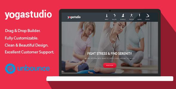Yoga Studio – Unbounce Landing Page Template